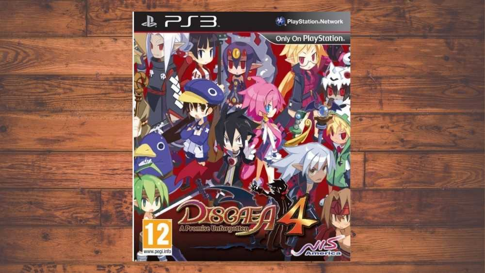 PS3 cover of Disgaea 4: A Promise Unforgotten game