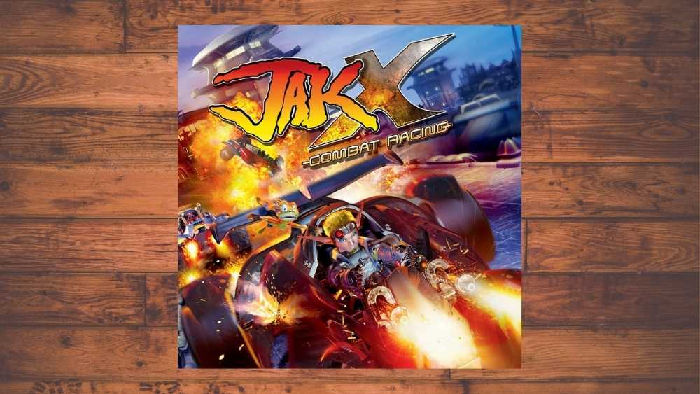 PS2 cover of Jak X: Combat Racing game