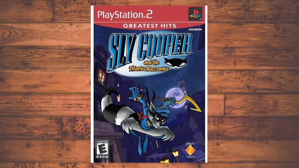 PS2 cover of Sly Cooper and the Thievius Raccoonus game