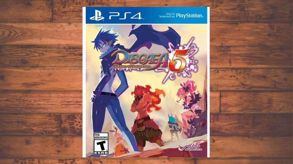 PS4 cover of Disgaea 5: Alliance of Vengeance game