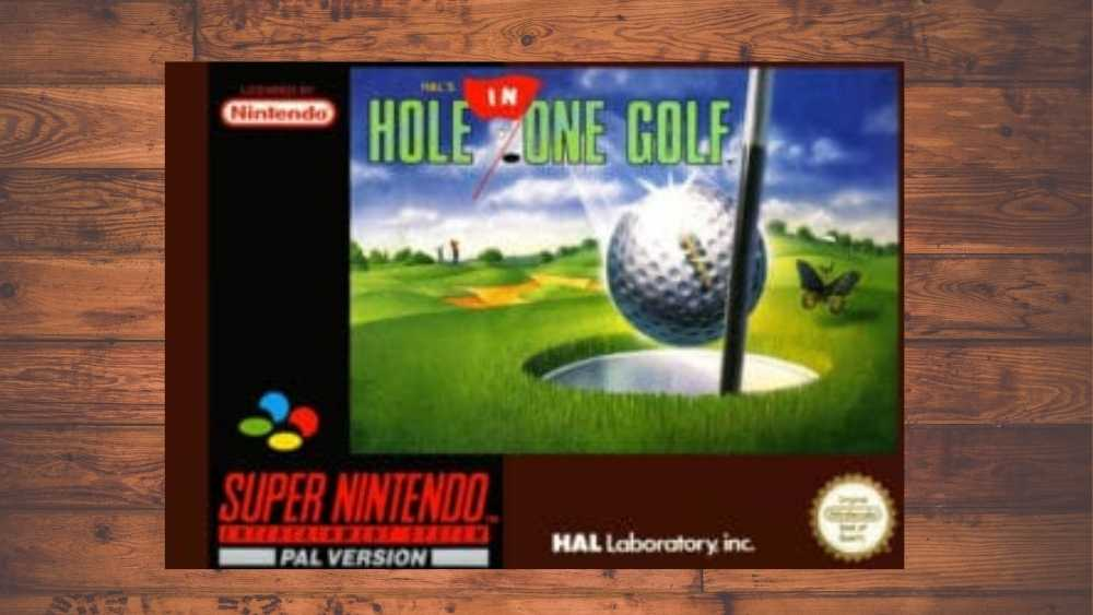 Nintendo cover of Hal's Hole in One Golf game