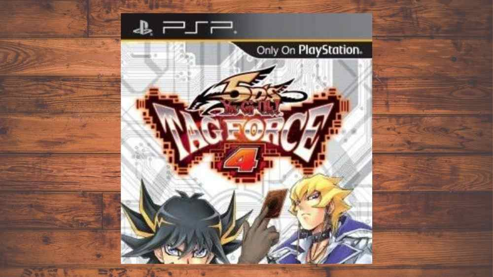 PSP cover of Yu-Gi-Oh! 5D's: Tag Force 4 game